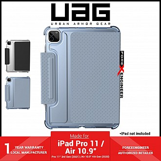 """UAG [U] Lucent for iPad Air 10.9"""" ( 4th Gen ) / iPad Pro 11 inch ( 3rd / 2nd / 1st Gen ) ( 2021 - 2018 ) Case - Soft Blue (Barcode : 810070361167 )"""